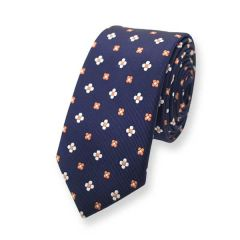 Krawatte dunkelblau Blumen Print