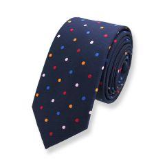 Krawatte dunkelblau gepunktet
