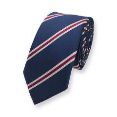 Krawatte dunkelblau gestreift Lio