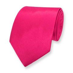 Krawatte neon rosa einfarbig
