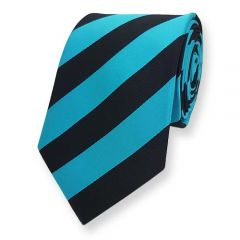 Krawatte Petrol Schwarz Gestreift
