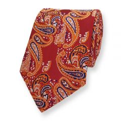 Krawatte Rot Paisley