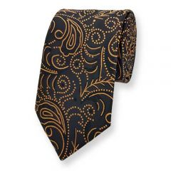 Krawatte schwarz cognac