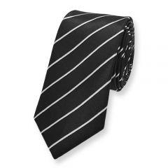 krawatte schwarz weiss diagonal streifen