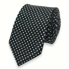 Krawatte gepunktet schwarz weiß schmal