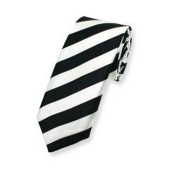 Krawatte schwarz weiß gestreift schmal