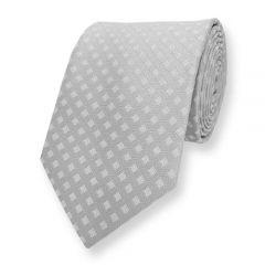 Krawatte Silber Kariert