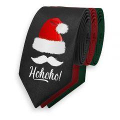 Krawatte Weihnachten schwarz hohoho