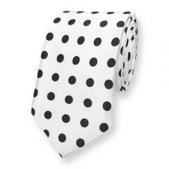 Krawatte weiß polka dot ExvE