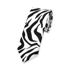 Krawatte Zebrastreifen schwarz weiß schmal