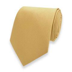 Krawatte gestreift hellgold fine line