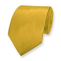 Krawatte gold einfarbig