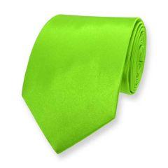 Krawatte neon grün einfarbig