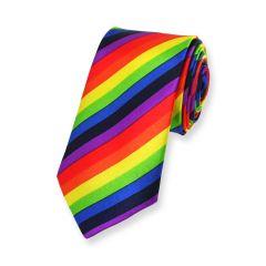 Krawatte regenbogen schmal einfarbig