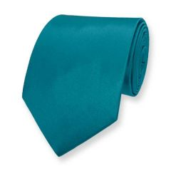 Krawatte petrol einfarbig