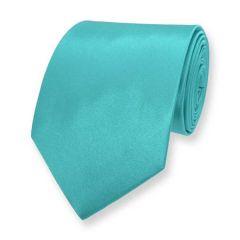 Krawatte türkis einfarbig