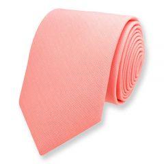 Krawatte pfirsich einfarbig