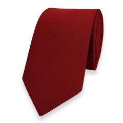 schmale Krawatte dunkelrot