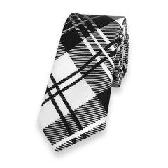 Krawatte weiß schwarz kariert