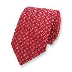 Krawatte rot silber kariert