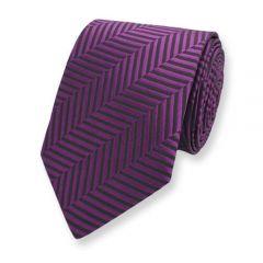 Krawatte violett schwarz Seide