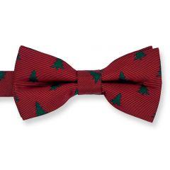 Weihnachtsfliege dunkelrot Christbaum