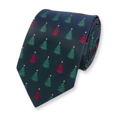 Weihnachtskrawatte mit Weihnachtsbäume